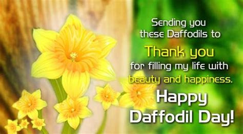 You Filled My Life  Free Daffodil Day eCards, Greeting