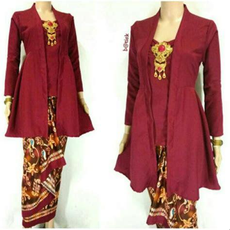 jual baju kebaya wanita batik atasan tunik batik peplum