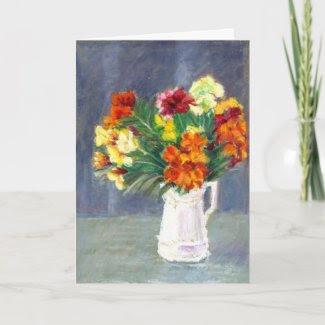 Wallflowers Birthday Card