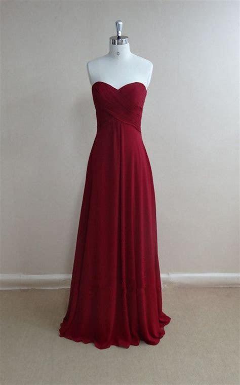 Bridesmaid Gown,Pretty Burgundy Prom Dresses,Chiffon Prom
