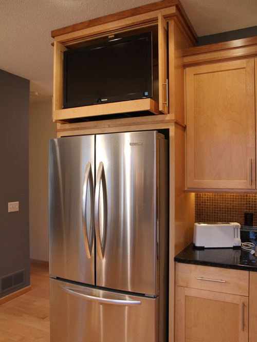 Tv Above Refrigerator Home Design Ideas, Pictures, Remodel ...