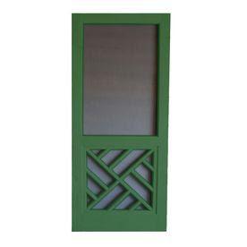 Screen Tight�Chippendale 32-in Favorite Green Wood Screen Door