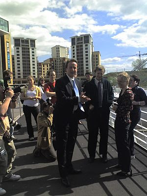 English: David Cameron in Newcastle