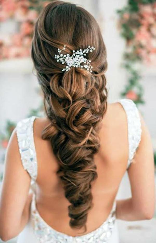 Hochzeit Frisuren Mit Blumen Für Langes Haar Asktorontoinfo