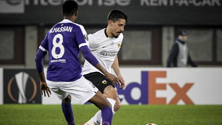 Στους «32» του Europa League η ΑΕΚ, 0-0 με την Αούστρια στη Βιέννη