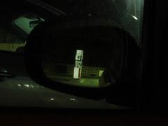 Dark petrol station