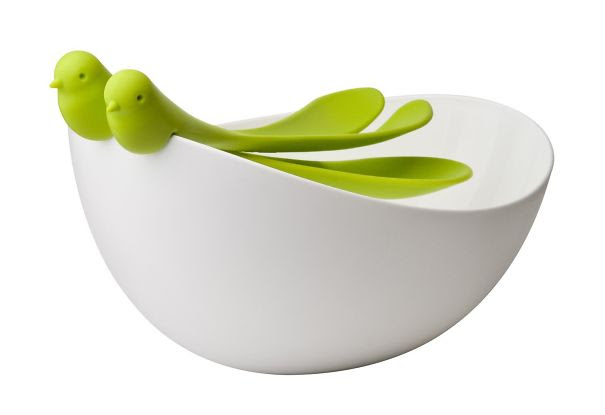 Sparrows Salad Bowl And Servers