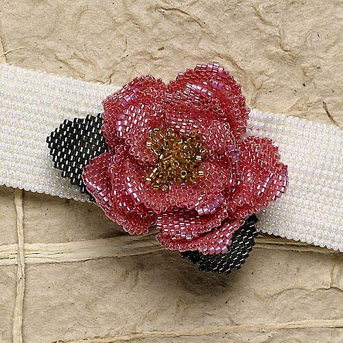 Wild rose: bracelet, herringone, peyote (Download Now)