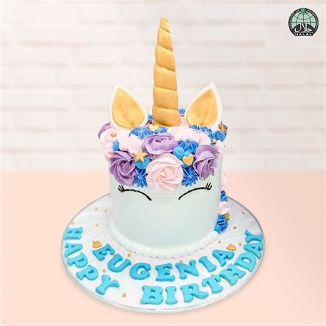 Customised Magical Unicorn Lavender Halal Birthday Cake