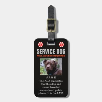 Service Dog - Black Full Access Required Badge