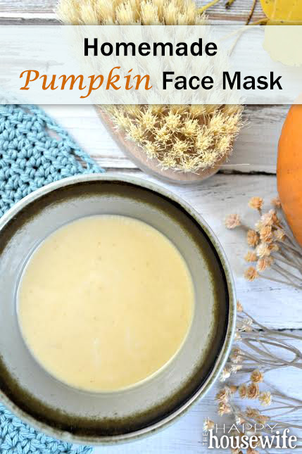 Homemade Pumpkin Face Mask by the Happy Housewife