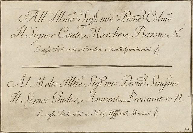 La penna da scrivere - Francesco Polanzani, 1768 l