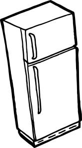 Fridge Outline Clip Art