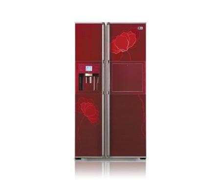 Retro Kühlschrank Side By Side : Amerikanischer kühlschrank rot tracy harriman