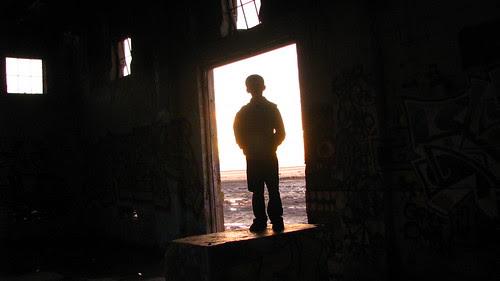 Caiden in a doorway