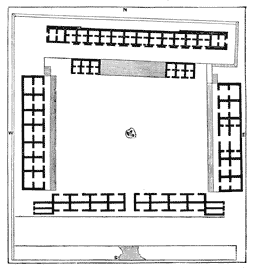 Plan of the Nunnery Group, Uxmal.