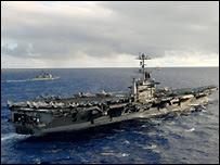 Portaaviones estadounidense USS Stennis