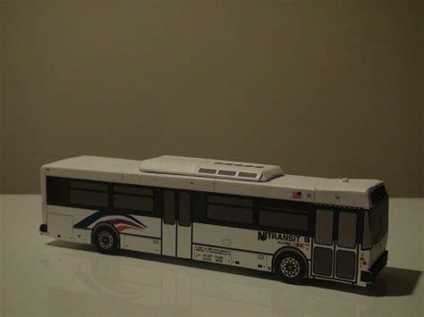paper bus nj paper bus depicting  nj transit nabi