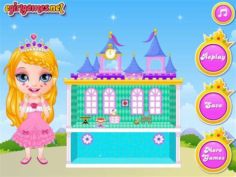 Play Baby Barbie Princess Dollhouse   Free online games