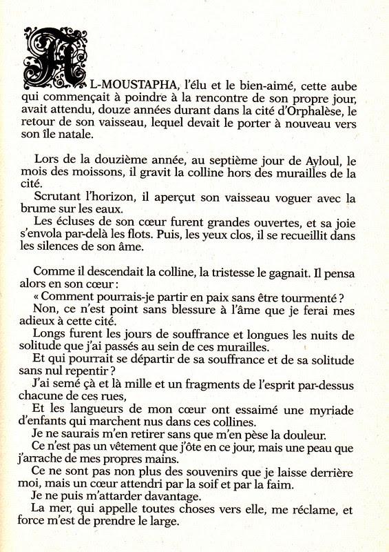 Citation Khalil Gibran Le Prophete