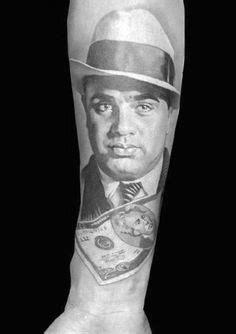 50 Al Capone Tattoos für Männer – Gangster Design-Ideen