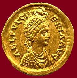 Sainte Pulchérie. Impératrice de Byzance († 453)