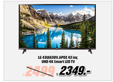 LG 43UJ630V.APDZ 43 inç UHD 4K Smart LED TV 2349TL