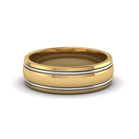 Two Tone Gold Mens Wedding Ring   Fascinating Diamonds