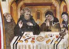 The last meeting of Saint Benedict and Saint Scholastica, 15th century Umbrian master, Upper Church of the Sacro Speco, Subiaco