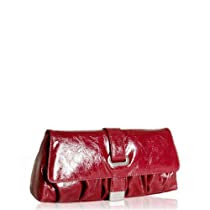Stuart Weitzman red patent leather buckle 'Cala' clutch