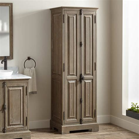 chelles bathroom linen storage cabinet gray wash bathroom