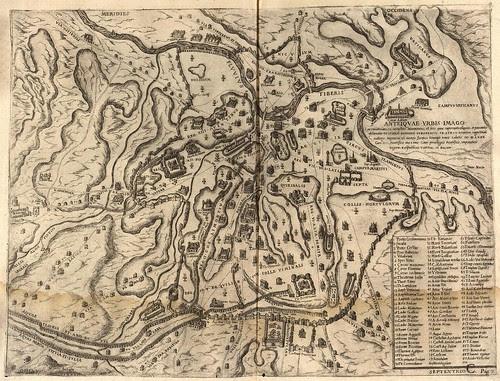 map of ancient Rome - Panvinio