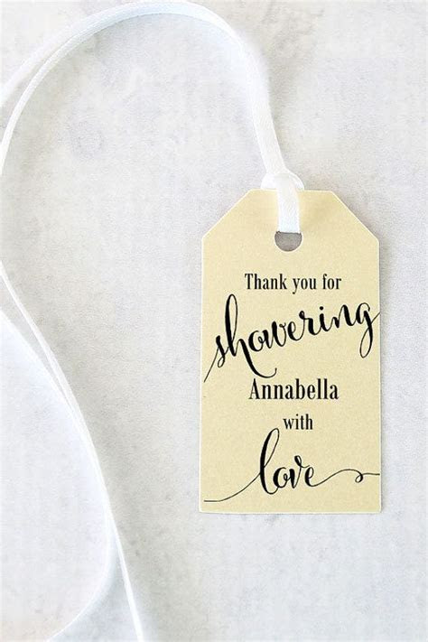 Bridal Shower Favor Tags Showering with Love Tags by