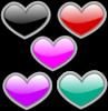 Glossy Hearts 1 Clip Art
