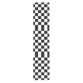 Checkered Black and White Table Runner Short Table Runner