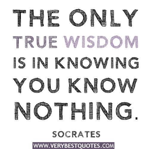 Socrates Quotes On Wisdom Traffic Club
