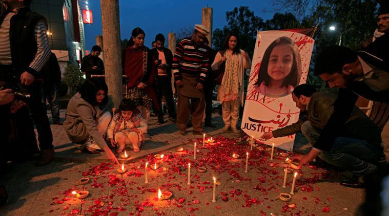 Pakistan child rape, Justice for Zainab, Kasur, Pakistan child murdered, Pakistan murder rape case, Pakistan News, Indian Express