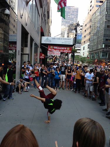 Breakdancing crew, 5th Avenue