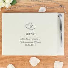 Hardback Guest Book Hearts Design   Wedding Gifts