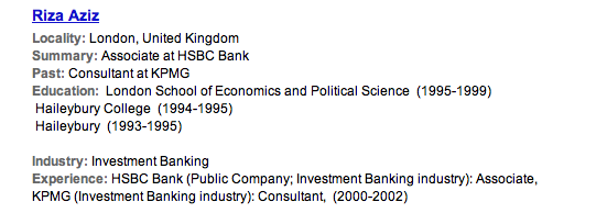 Multi-million dollar investment banker's CV?