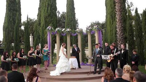 Groom Sings Original Song To Bride During Wedding Ceremony