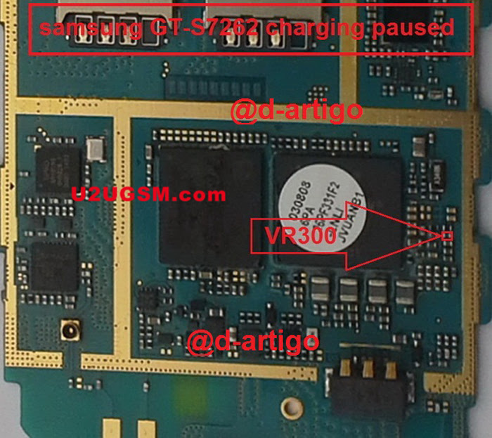 Samsung Galaxy Star Pro S7262 Charging Paused Solution Jumpers