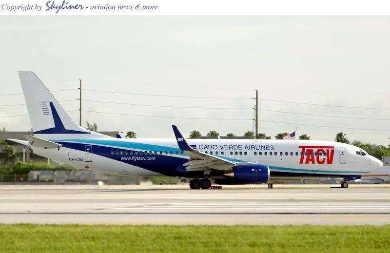 TACV Boeing 737-800 'D4-CBX' Cape Verde Islands