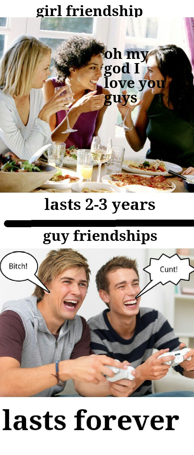 The Difference Between Girl And Guy Best Friends Funny Pictures