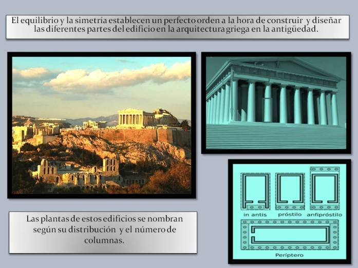 Equilibrio y simetria en arquitectura griega.