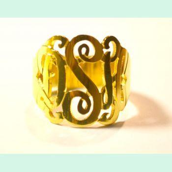 Monogram Ring! Handmade in Wilmington NC  | PREPPY way of life