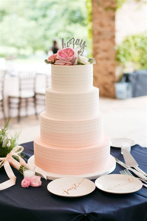 Pink Ombre Buttercream Wedding Cake