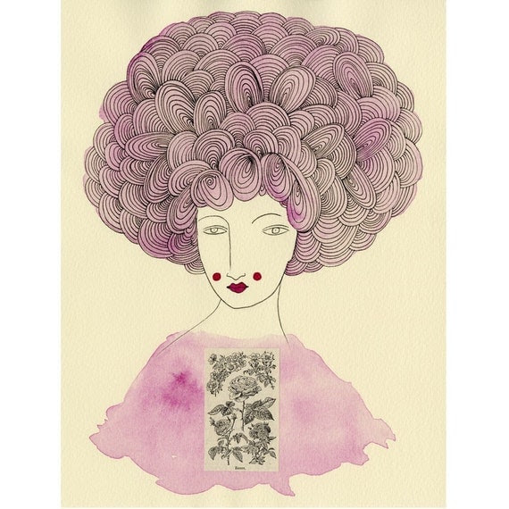 Madame Rose- Archival Print   SALE... Buy two, get one free