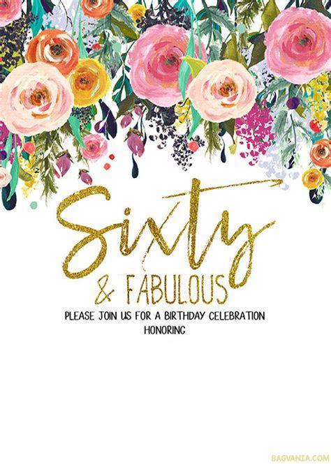 FREE Printable 60th Birthday Invitation Templates ? GOLDEN