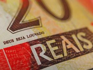 Expressão 'Deus seja louvado' em nota de R$ 20 (Foto: Fábio Tito/G1)